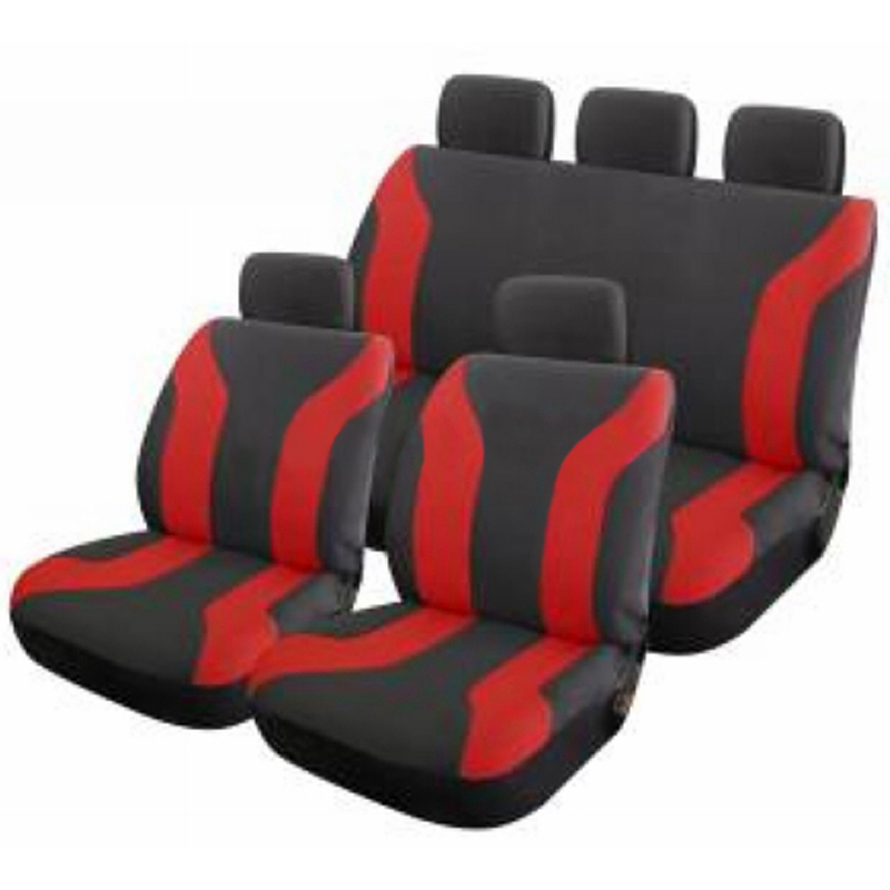 AMOI Universal Solid Bench Cloth Seat Covers For SUV Auto