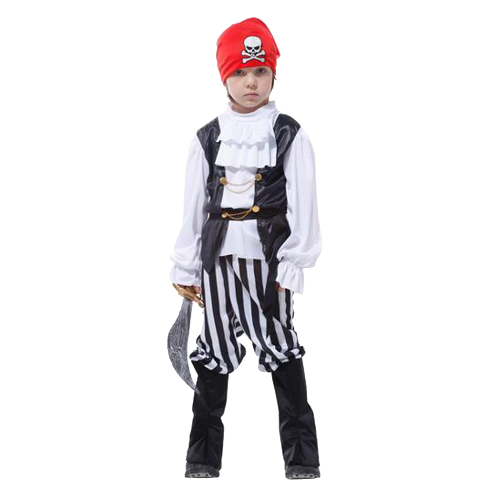WOO Children Boys Pirate Costume Outfit Buccaneer Fancy ...