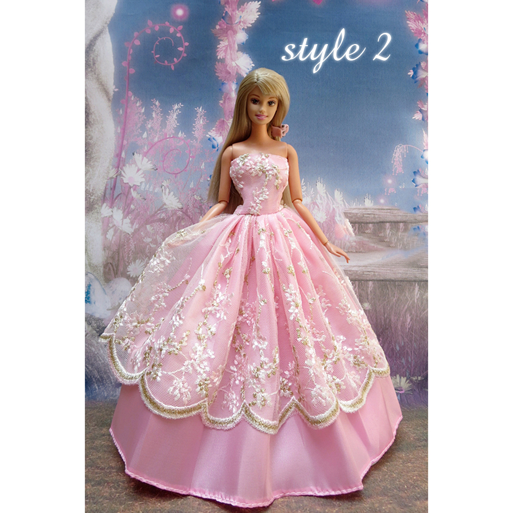 EFLE New Barbie Doll Clothes Lovely Fancy Gowns Wedding Evening ...