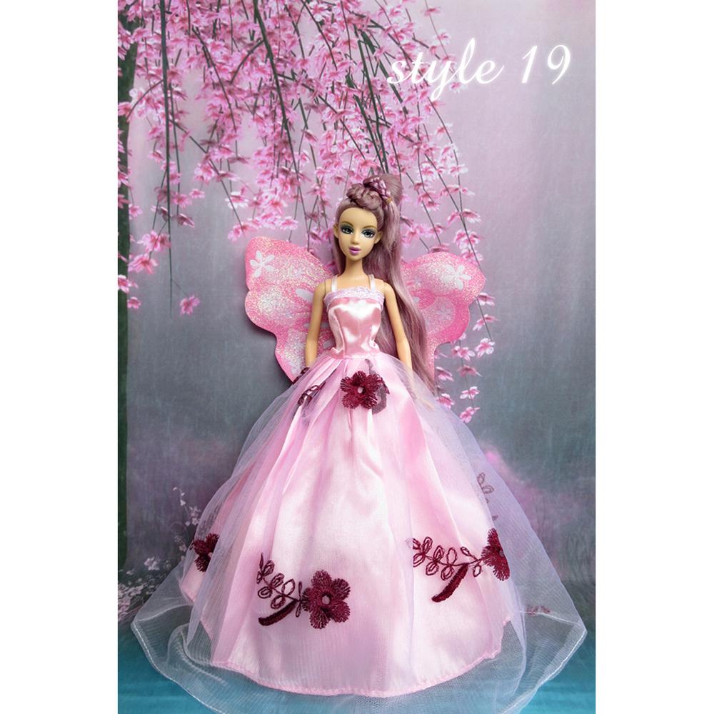 Vestido de Noche Sky Barbie Muñeca Ropa Hermosa elegante vestidos de ...