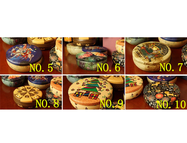 mt8 Home Small Round Candy Tea Coin Jewelry Storage Iron Box Tin Case Decor Gift