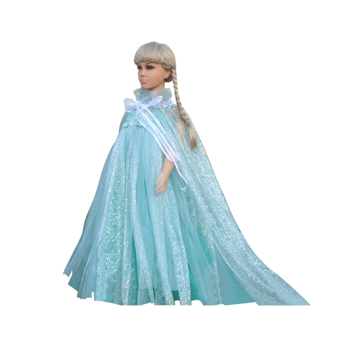 yo frozen eisk nigin kleid elsa kost m prinzessin m dchen blau ebay. Black Bedroom Furniture Sets. Home Design Ideas