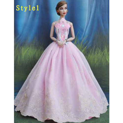 Woo barbie sindy doll clothes wedding evening party ball for Edric woo wedding dresses
