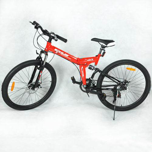 V-New-High-Carbon-Steel-Frame-Folding-Bicycle-26-Inches-Red-Sports-Mountain-Bike