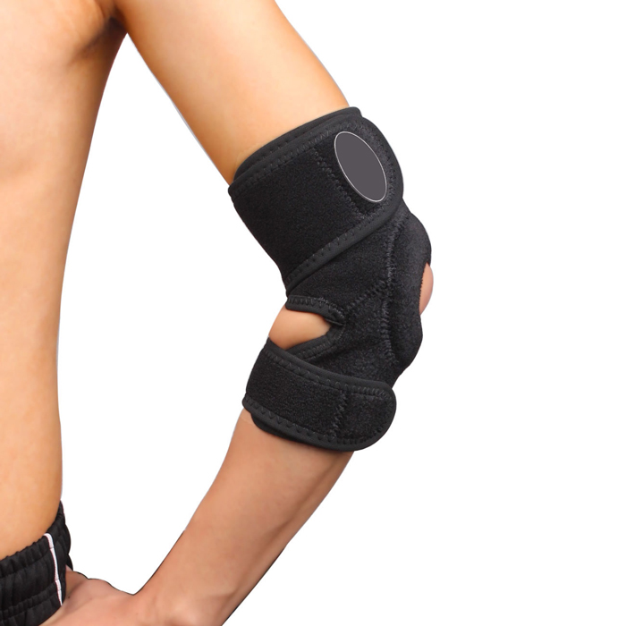 Am sport protector open adjustable hinged elbow support