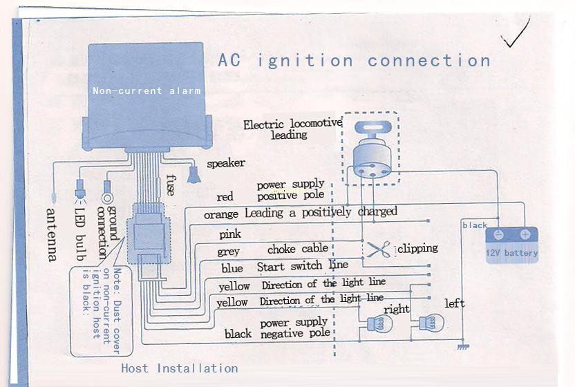 remote motorcycle security alarm system anti-theft kit | ebay saturn alarm wiring diagram #11