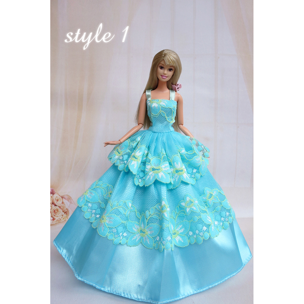 GEE Barbie Doll Clothes Lovely Fancy Gowns Wedding Evening Party ...
