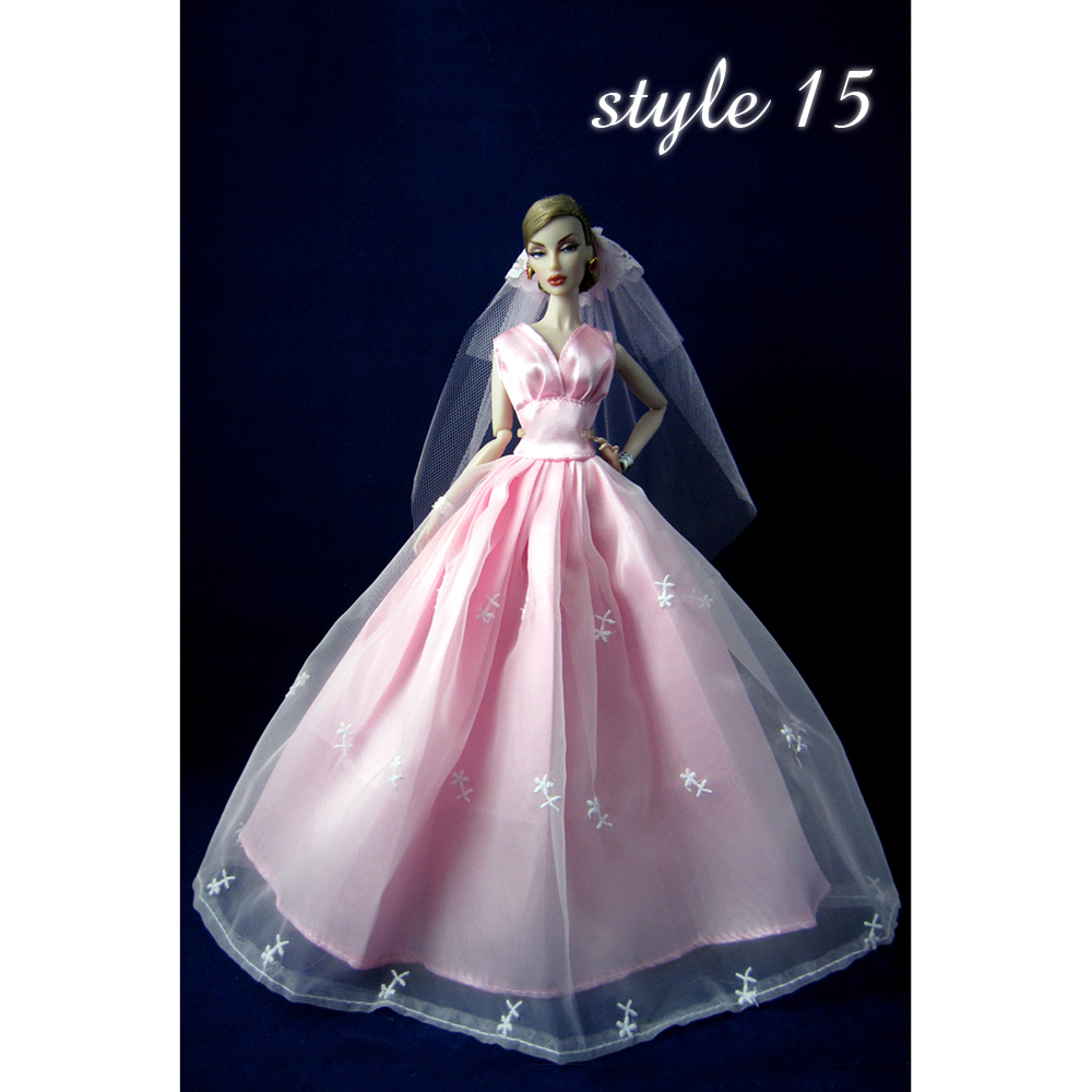 AM1 Girl Barbie Doll Clothes Lovely Fancy Gowns Wedding Evening ...