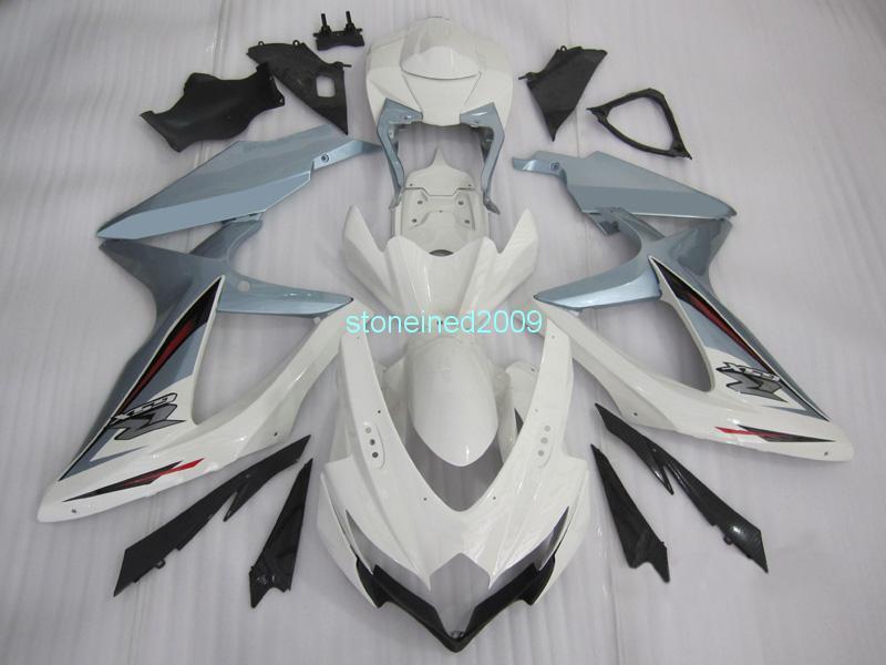 Motorcycle Fairing Bodywork Kit Panel Set Fit for Suzuki GSXR600//750 K8 08 09 10