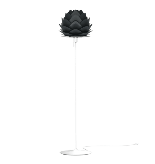 black lampshade floor lamp