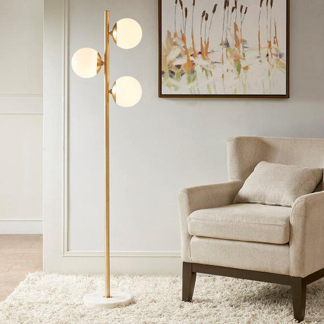 Modern Globes Vertical Floor Lamp