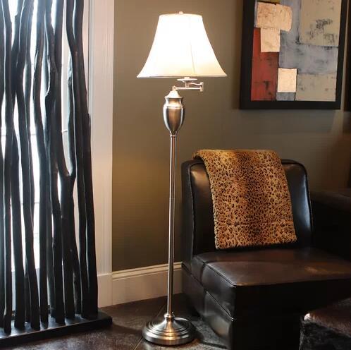 Mitchem 59'' Swing Arm Floor Lamp