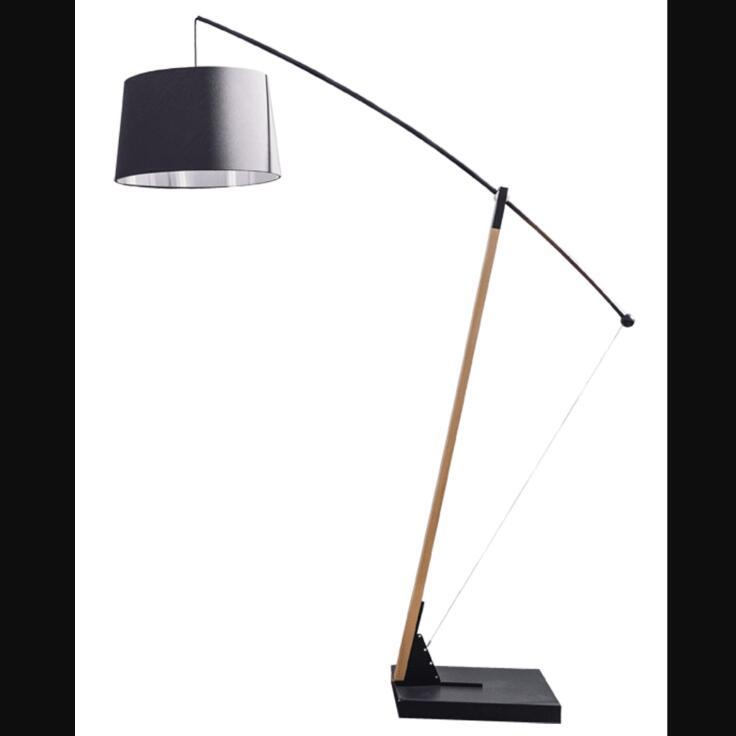 Black Archer Single Light Floor Lamp