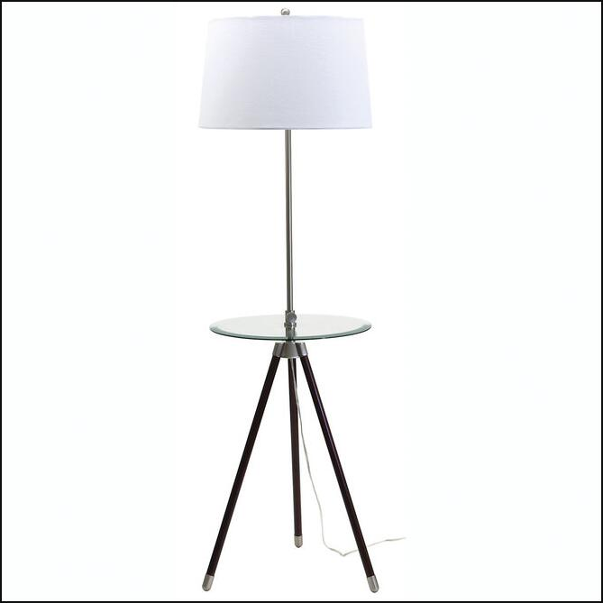 Tripod With Glass Table Floor Lamp