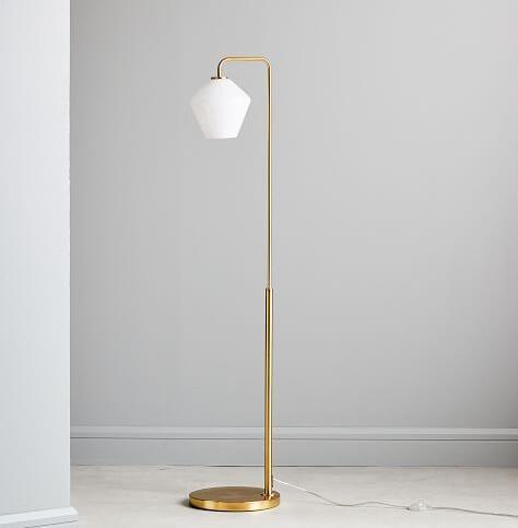 Sculptural Glass Geo Floor Lamp