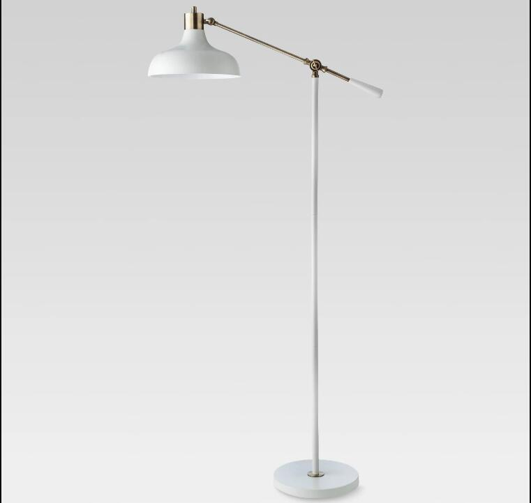 Crosby Schoolhouse Floor Lamp White Lamp