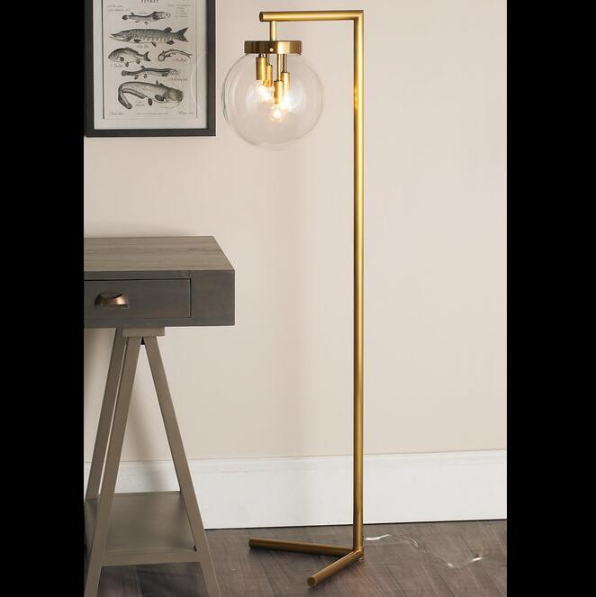 Mid-Century Globe floor lamp