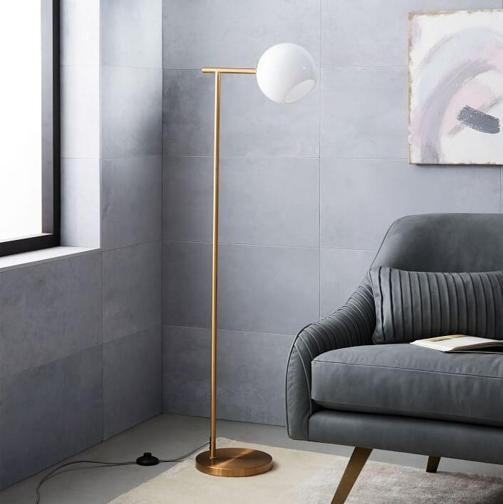 Staggered Glass Floor Lamp