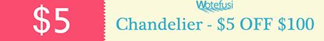 Chandelier-$5-OFF-$100