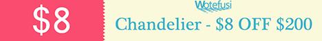 Chandelier-$8-OFF-$200
