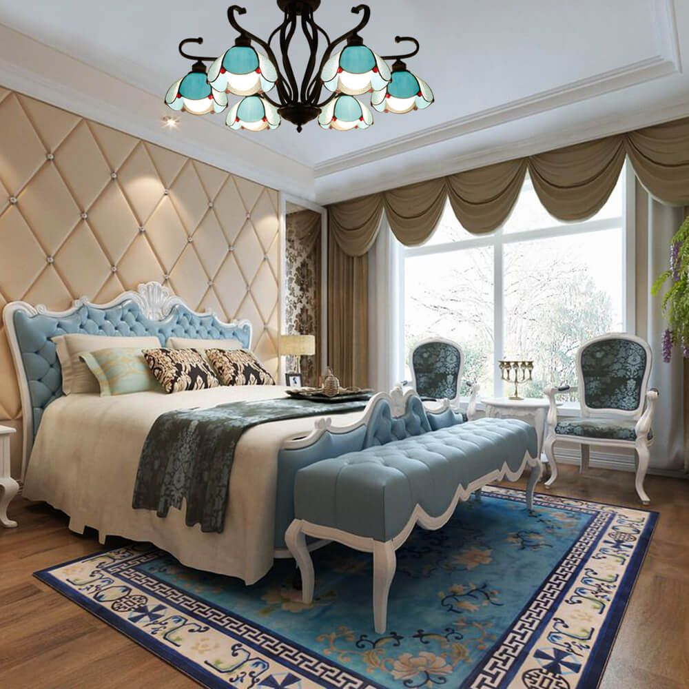 bedroom-tiffany-pendant-light