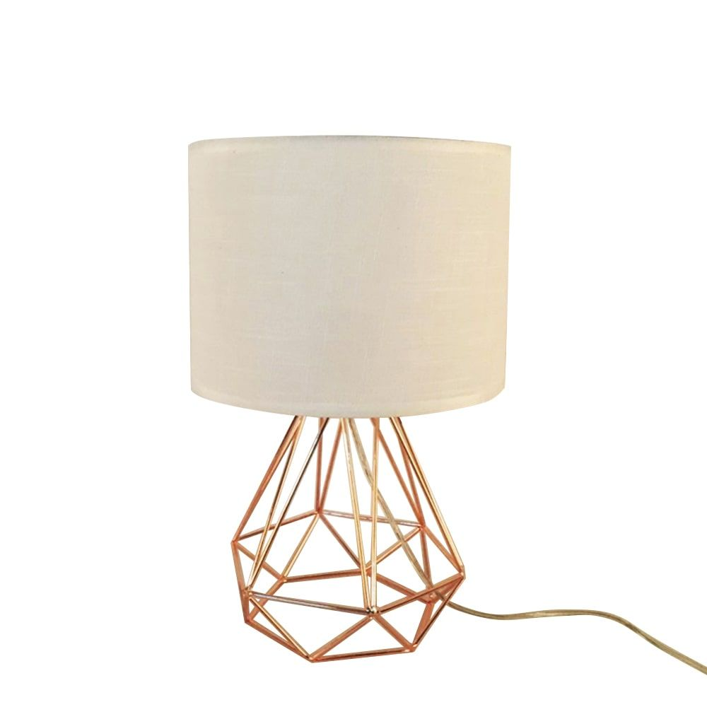 rose-gold-table-light-white-cloth-lampshade