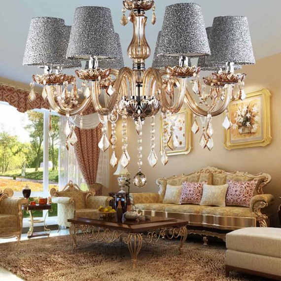 living room chandelier