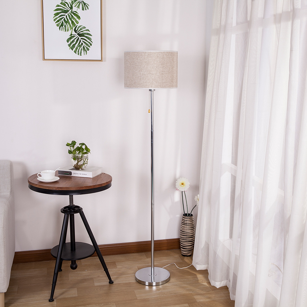 linen-pull-chain-floor-lamp
