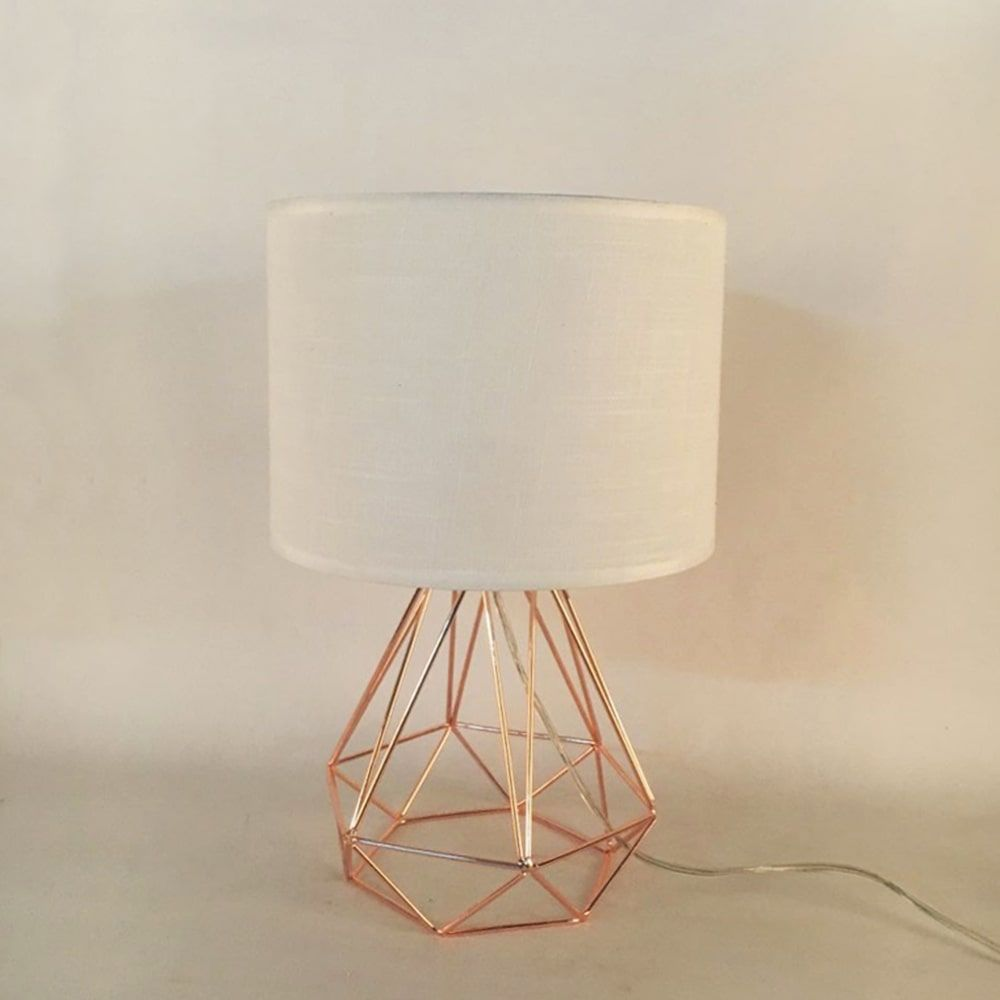 fabric lampshade table light
